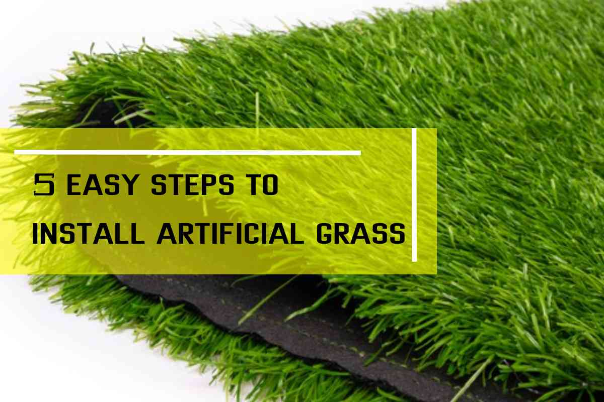How to install artificial grass in 6 easy steps